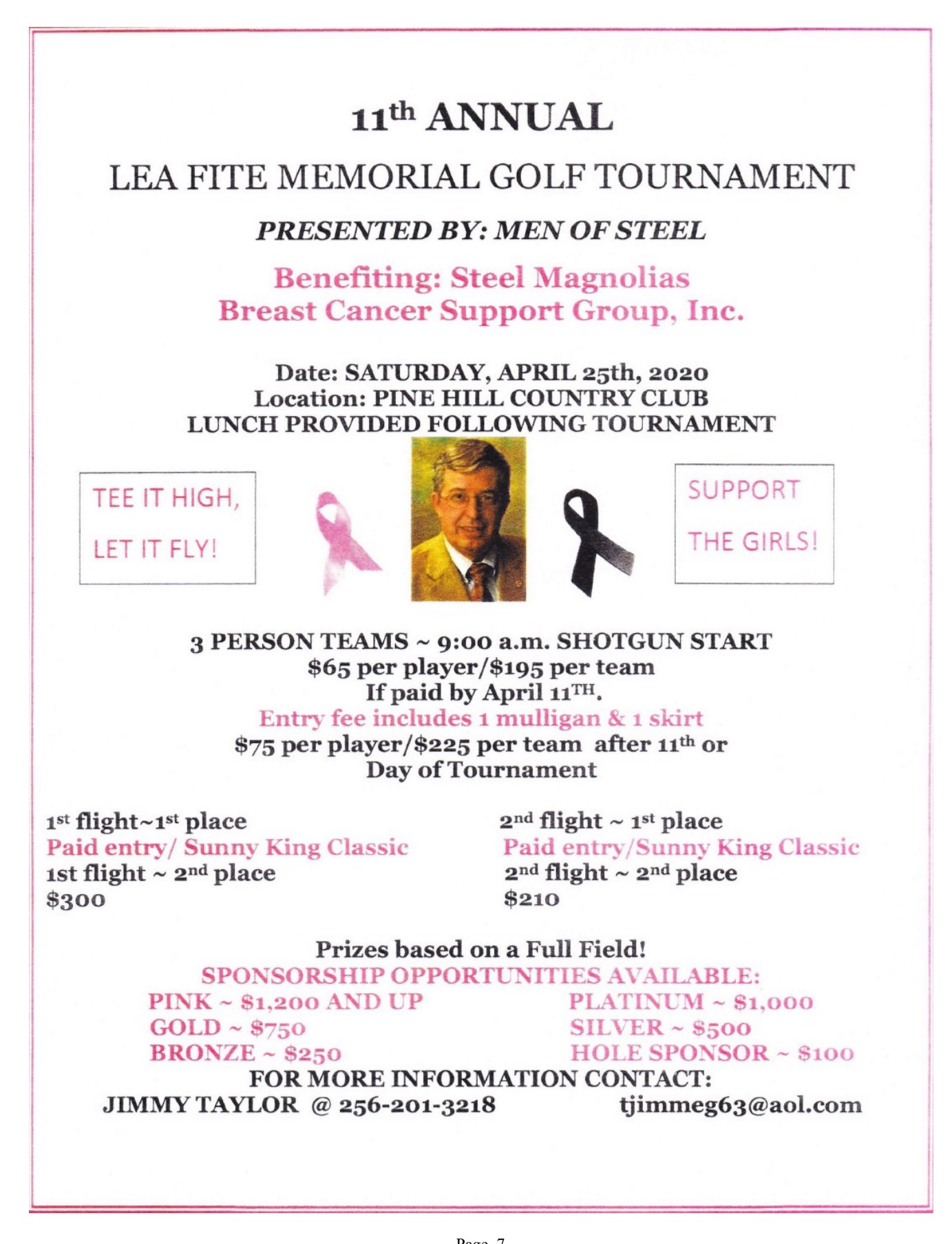 11th Annual Lea Fite Memorial Golf Tournament
